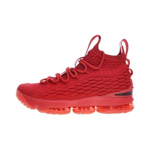 Nike Air Zoom Lebron 15 Beat Michigan Flyknit sneaker men's basketball shoes red