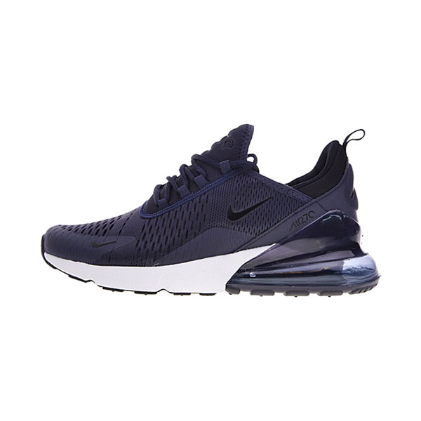 2018 Nike Air Max 270 Midnight Navy sneakers men's running shoes blue white