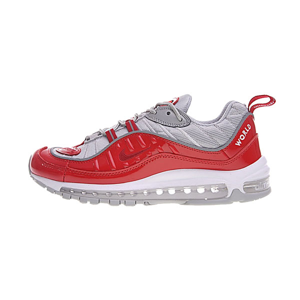 Limited Supreme x NikeLab Air Max 98 sneakers men's running shoes red grey