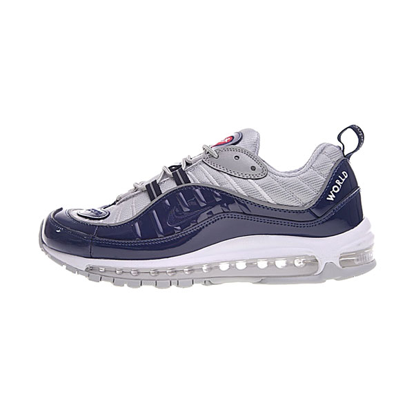 Limited Supreme x NikeLab Air Max 98 sneakers men's running shoes navy blue