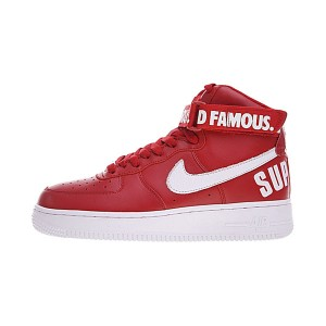 Supreme x Nike Air Force 1 High sneaker men and women sports shoes red white
