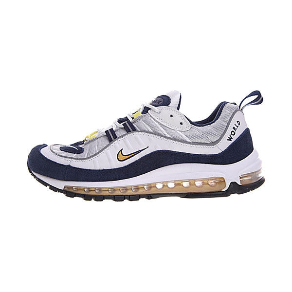 Nike Air Max 98 Tour Yellow retro sneakers men's running shoes blue white