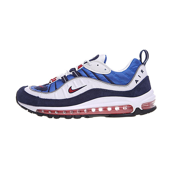 Nike Air Max 98 Gundam retro sneakers men's running shoes red blue white