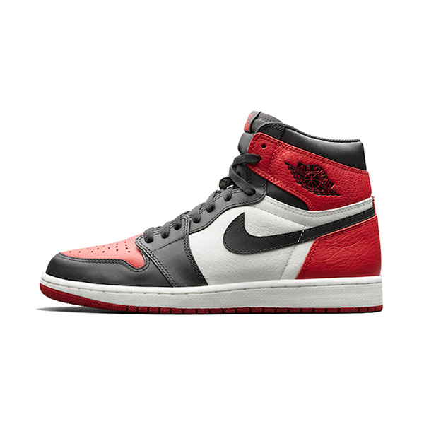 Air Jordan 1 Retro High OG Bred Toe sneaker men's sports shoes black red