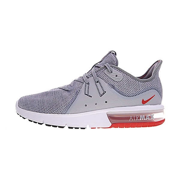 Nike Air Max Sequent 3 sneakers men's running shoes grey university red