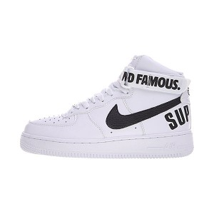 Supreme x Nike Air Force 1 High 20th Anniversary sports shoes white black