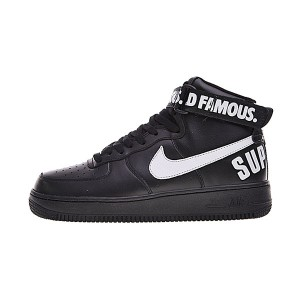 Supreme x Nike Air Force 1 High 20th Anniversary sports shoes triple black