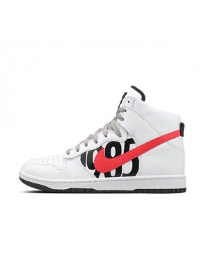 Undefeated x NikeLab Dunk Lux High sneaker men's sports shoes white black