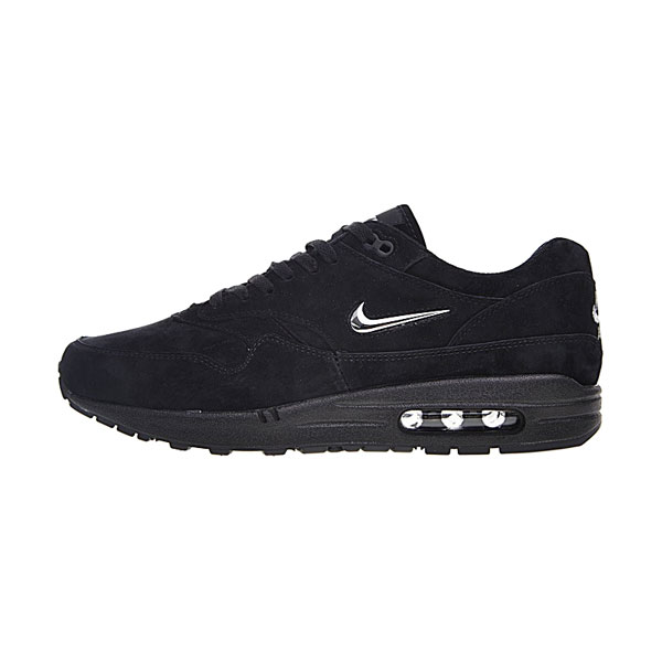 Nike Air Max 1 Premium Jewel Black Chrome men and women running shoes