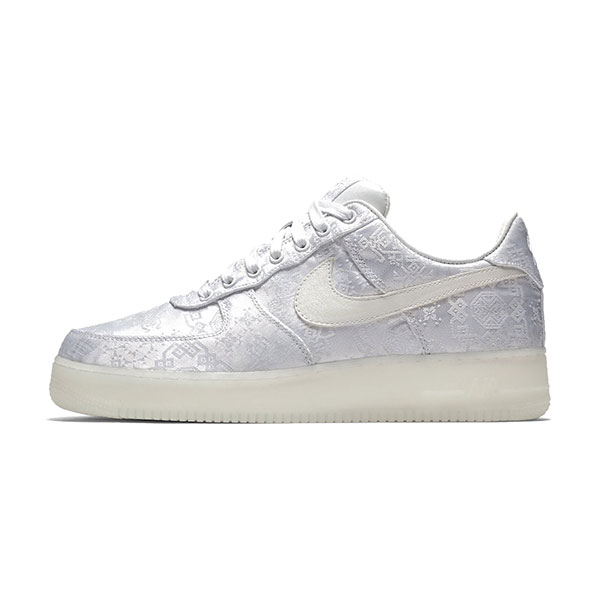 CLOT x Nike Air Force 1 white silk sneaker men and women casual shoes