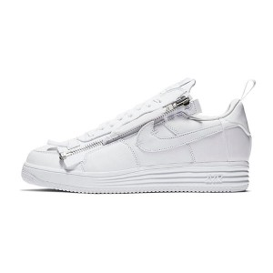 ACRONYM x Nike Lunar Force 1 sneaker men's sports shoes triple white