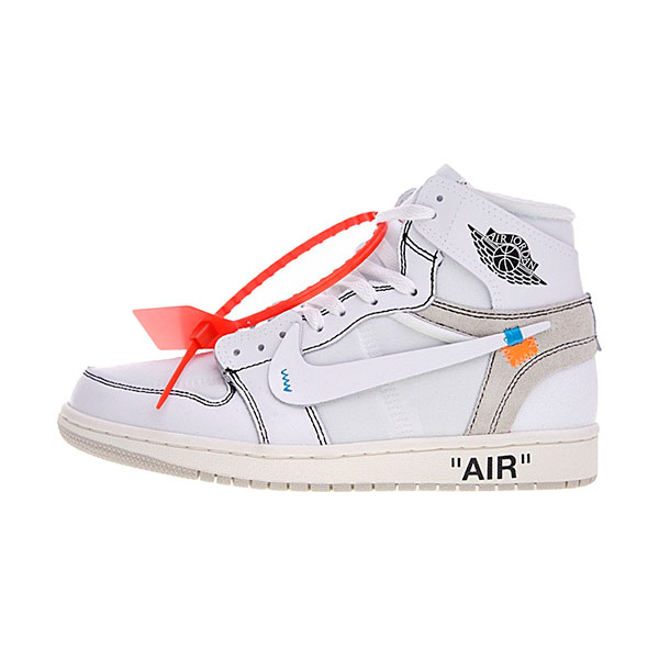 OFF white x Nike Air Jordan 1 The Ten White men and women sports shoes