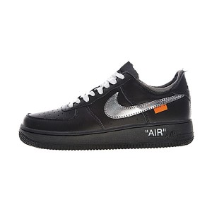 Off White x Nike Air Force 1 Low men and women running shoes triple black