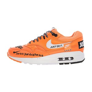 Nike Air Max 1 Just Do It sneaker men and women running shoes orange white