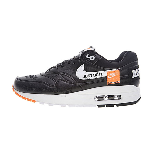 Nike Air Max 1 Just Do It sneaker men and women running shoes black white