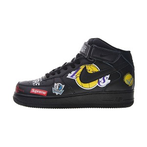 Supreme x NBA x Nike Air Force 1 Mid sneaker men's running shoes black