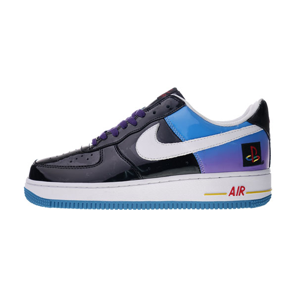 Playstation x Nike Air Force 1 Low sneaker men's skateboarding shoes Black Blue