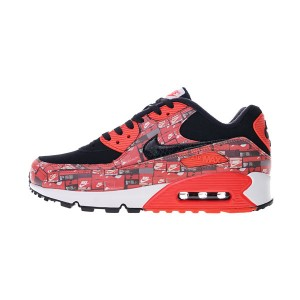 Atmos x Nike Air Max 90 We Love Nike Pack Sneakers Men Running Shoes Red