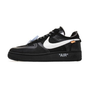 Off White x Nike Air Force 1 Low Black Sneaker Men And Women Sports Shoe