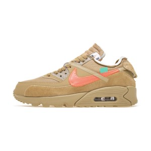 Off White x Nike Air Max 90 V2 Desert Ore Sneaker Men's Running Shoes