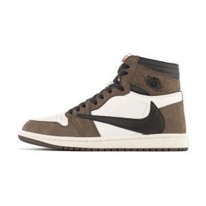Travis Scott x Air Jordan 1 High Cactus Jack Sneaker Mens Basketball Shoes