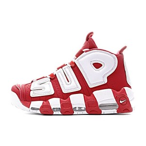 Supreme x Nike air more uptempo sneakers men's basketball shoes red white