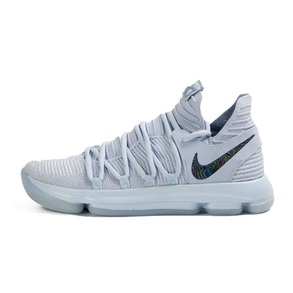 Nike Zoom KD10 Anniversary Sneakers Kevin Durant basketball shoes ice blue