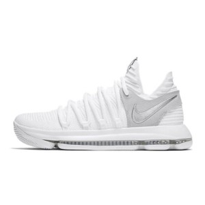 Nike Zoom KD10 Anniversary White Chrome Boots Kevin Durant basketball shoes