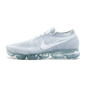 2017 nike air vapormax flyknit women and men shoes pure platinum/white