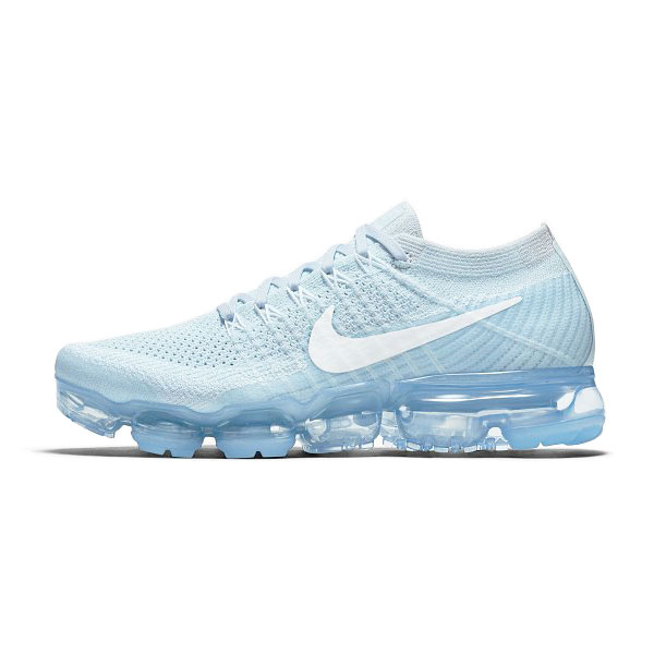 2017 nike air vapormax flyknit women and men running shoes glacier blue