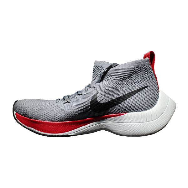 Nike zoom vaporfly elite flyknit running shoes high stat sneakers grey red