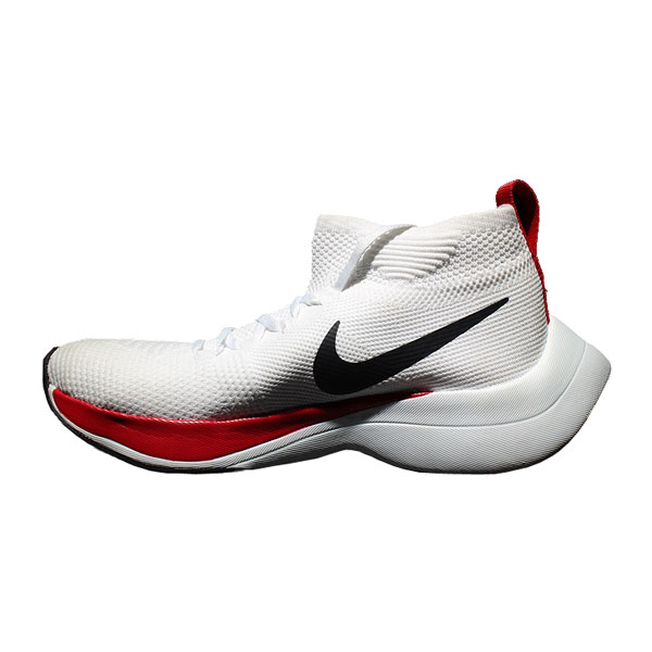 Nike zoom vaporfly elite flyknit women and men running shoes white red