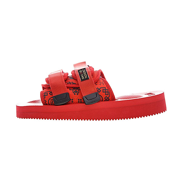 CLOT x Suicoke MOTO-VS sandals men and women trend slippers core red