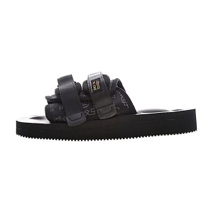 CLOT x Suicoke MOTO-VS sandals men and women trend slippers black pattern