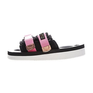 CLOT x Suicoke MOTO-VS sandals women's slippers casual shoes black pink