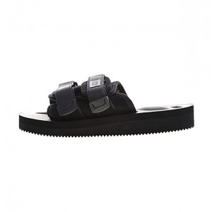 CLOT x Suicoke MOTO-VS sandals men and women trend slippers triple black