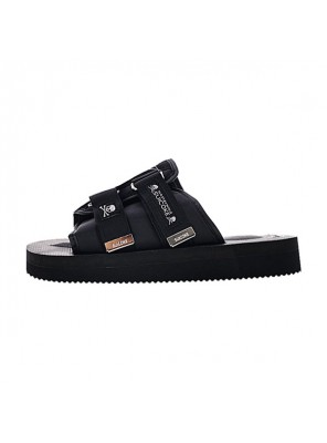 Mastermind Japan x Suicoke Moto-Vs Slipper men and women sandals triple black