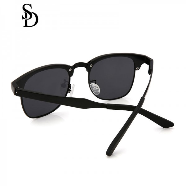 Sodear polarized couple sunglasses high-definition visual black frame gray lens