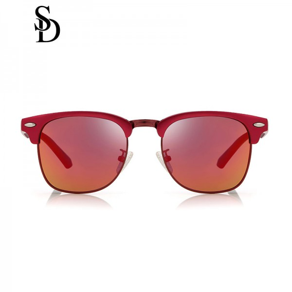 Sodear polarized couple sunglasses high-definition visual rose frame red lens