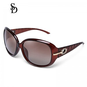 Sodear polarized sunglasses fashion women's sunglasses red frame brown lens