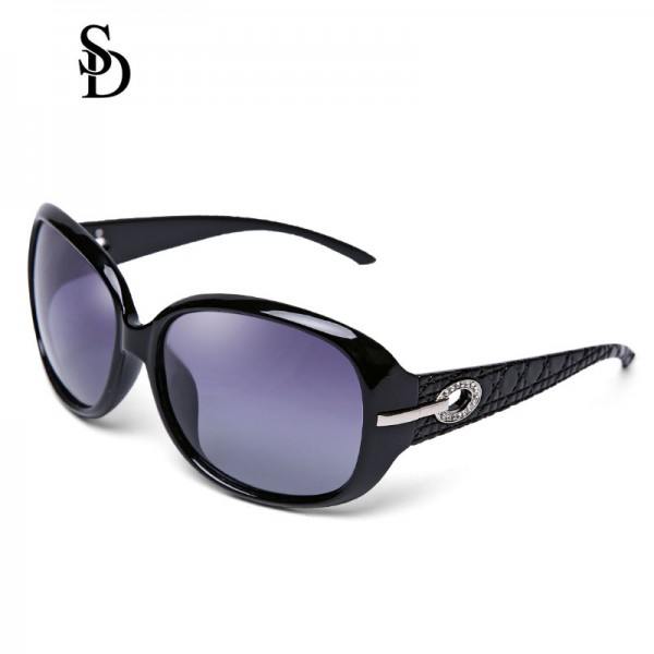 Sodear polarized sunglasses fashion women's sunglasses black frame purple lens