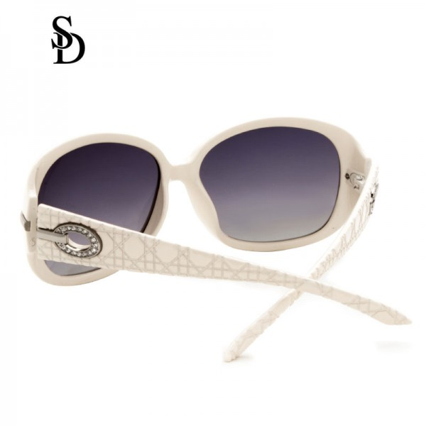 Sodear polarized sunglasses fashion women's sunglasses white frame purple lens