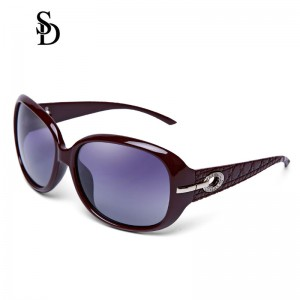 Sodear polarized sunglasses fashion women's sunglasses brown frame purple lens