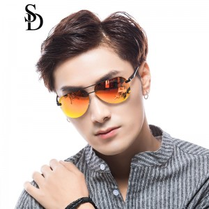 Sodear polarized sunglasses 2017 fashion couples sunglasses black frame orange lens