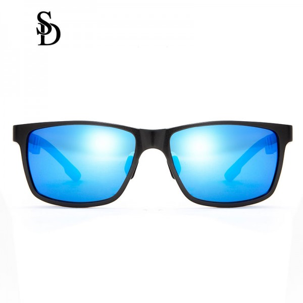 Sodear sunglasses 2017 Hi-light polarized sunglasses for mens black frame blue lens