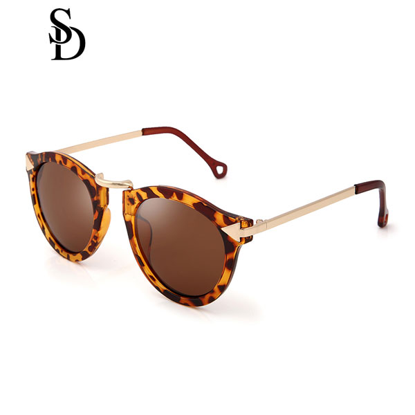 Sodear enchanted goddess sunglasses fashion round sunglasses leopard brown