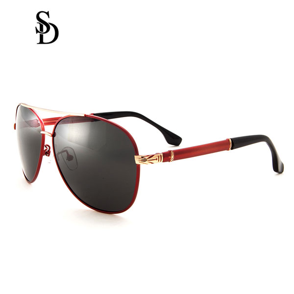 Sodear fashion polarized glasses for womens and mens sunglasses black red