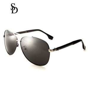 Sodear fashion polarized glasses for womens and mens sunglasses sliver black