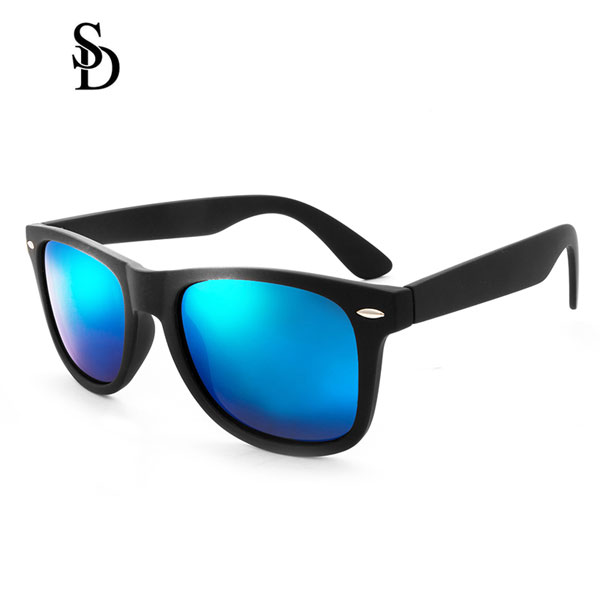 Sodear retro sunglasses 2017 fashion polarized couple sunglasses black blue