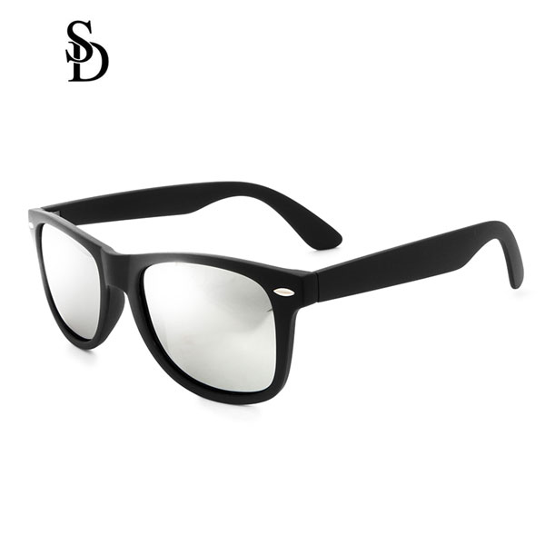 Sodear retro sunglasses 2017 fashion polarized couple sunglasses black sliver